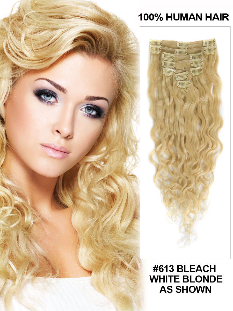 Hair extensions clip in 16 inches