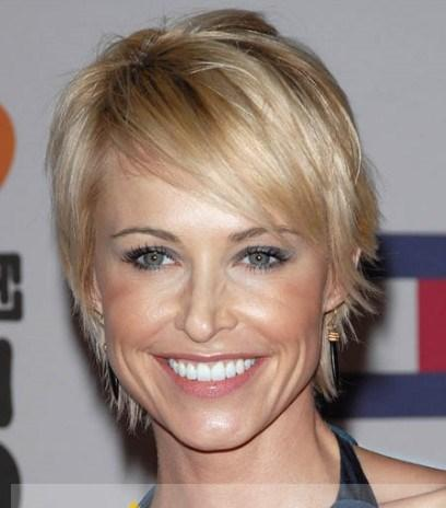 Beautiful Short Blonde Celebrity Hairstyle 100 Human Hair For Women